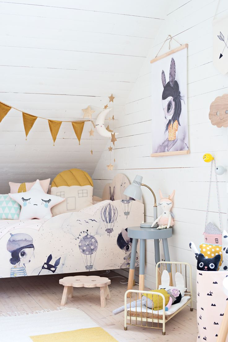 Meet our new Pretty & Mighetto BED PANELS - the perfect fit for your #ikea box spring bed (90 cm width) to help keep the kids safe and tight at night! Available in our webshop. . Illustrations by: Mrsmighetto Styled by: Willieandmilie  Webshop: Little_venue & Prettypegs  Photo credit: Cicimoller