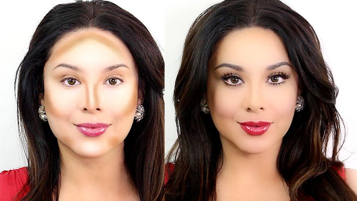 how to make your face look slimmer with contouring