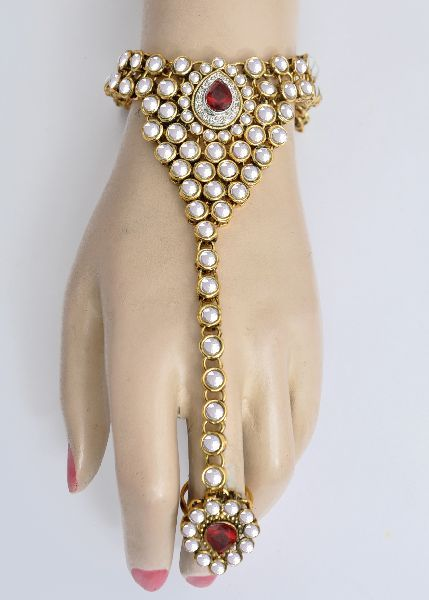 Bracelets with ring   ring with bracelet kundan bracelet with ring indian fashion bracelet