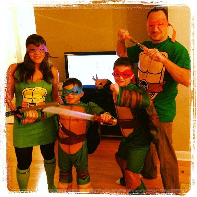 Family Halloween Costume Idea Teenage Mutant Ninja Turtles
