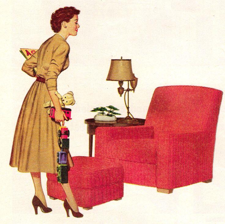 mid century modern arm chair ad retrohome http