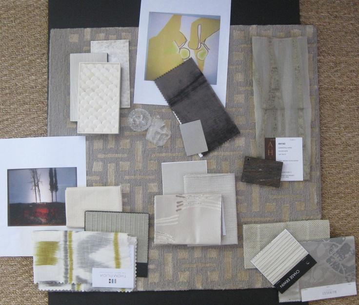 Color scheme – fabrics and rug