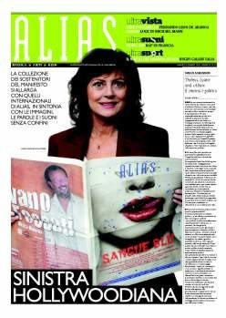 Susan Sarandon supports il manifesto (picture by Luca Celada)