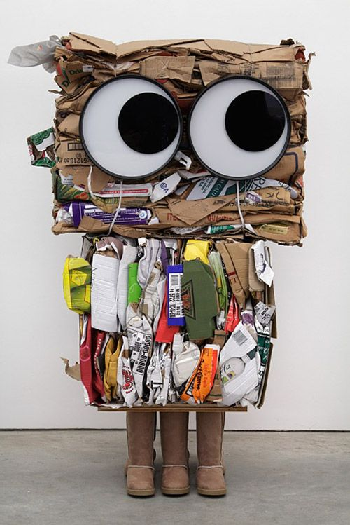 Rob Pruitt Cardboard Sculptures via My Owl Barn