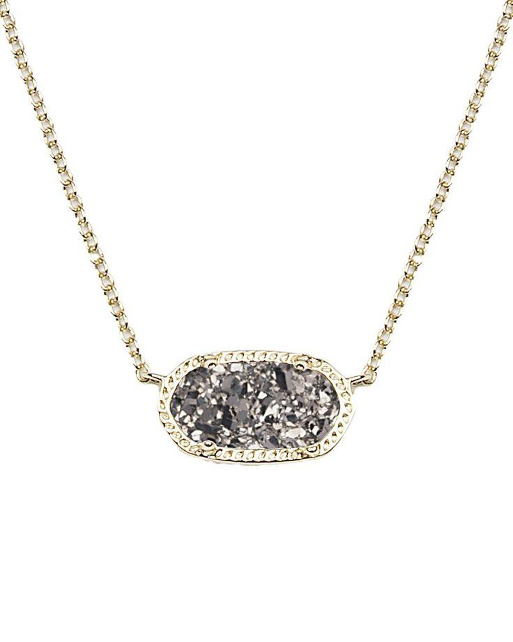 Elisa Pendant Necklace in Platinum Drusy - Kendra Scott Jewelry
