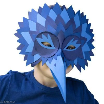 Máscara de Carnaval de pájaro: El cuervo