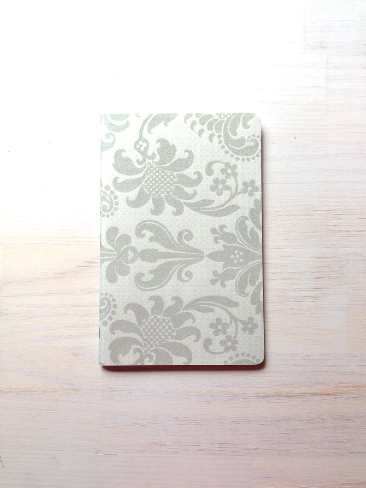 Notebook: Writing Notebook, Paper Cover, Journal, Floral, Gift, Silve ...