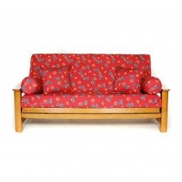 $55.00 Asian dragons & symbols printed on red background. #futon cover #futon covers #futon
