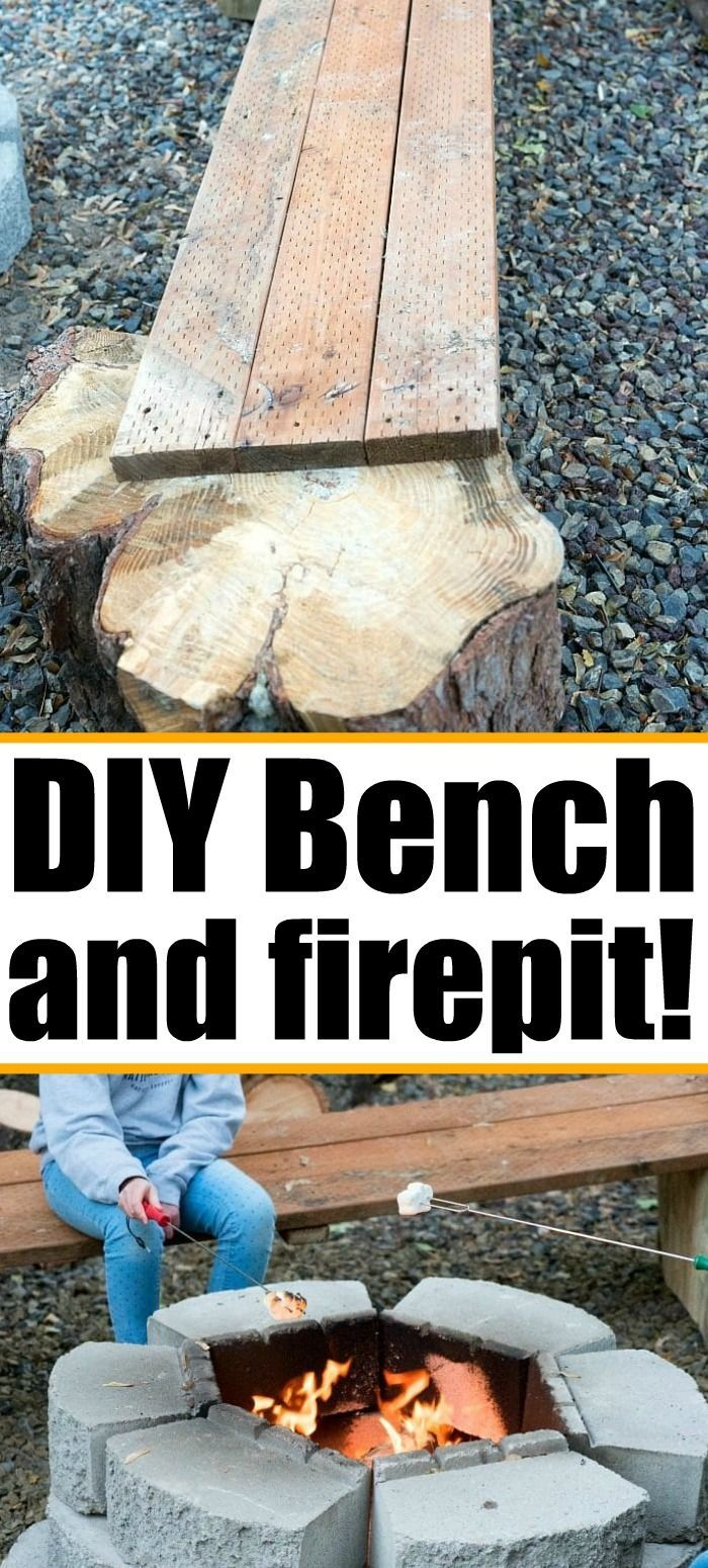 Diy fire pit bench and how to make a fire pit in your ...