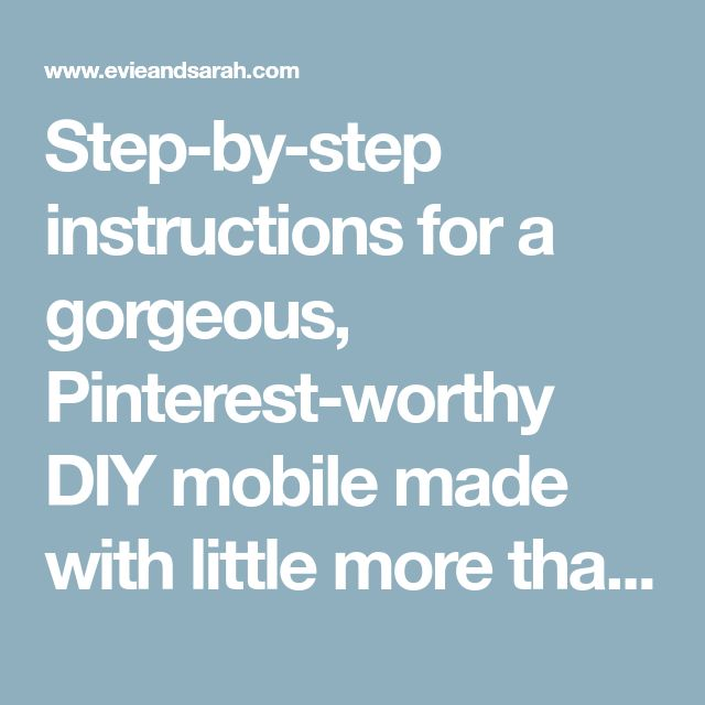 Step-by-step instructions for a gorgeous, Pinterest-worthy DIY mobile made with little more than cardstock paper. Pinned thousands of times and lovingly recreated by readers around the world, this DIY Better-Than-Paint-Chip-Mobile is the perfect addition to any room!!
