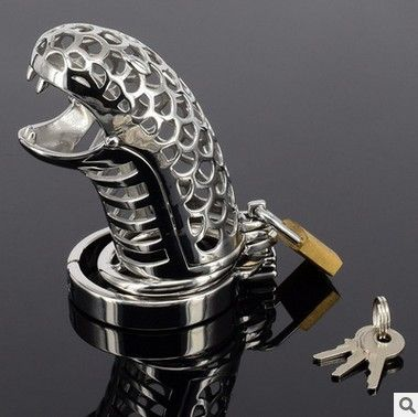 Top Quality Stainless Steel Penis lock Cobra Cock Cage Male Chastity Device Penis Locks For Men