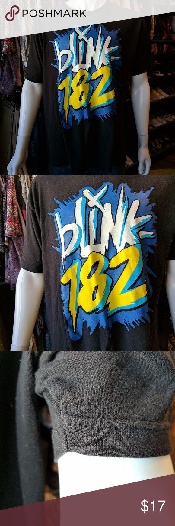 Black keys t shirt etsy - Blink 182 Yellow White Blue Logo Black Tee