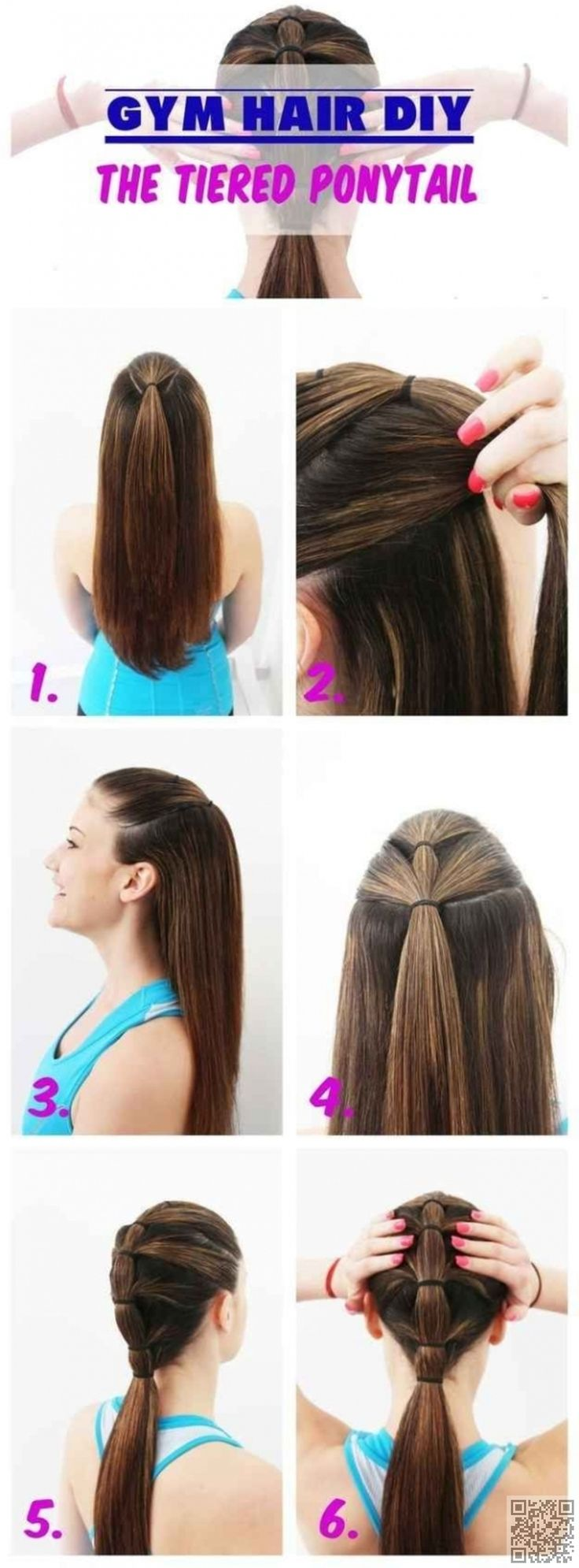 7. #Tiered Ponytail - 29 Ways to #Spice up Your Ponytail ... → Hair #Segmented