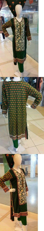 Salwar Kameez 155249: Pakistani Indian Shalwar Kameez 3Pcs Linen Shirt Front Embroidry . -> BUY IT NOW ONLY: $60 on eBay!