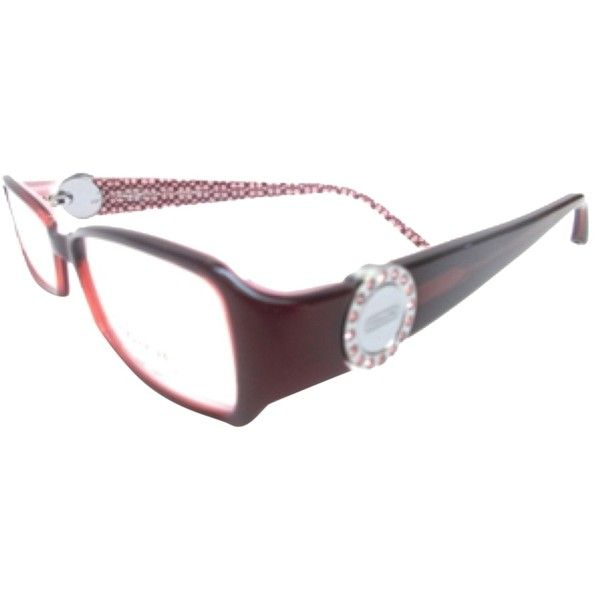 Pre-owned Coach Glasses Frames - Rosa Model 583 ($107) ❤ liked on Polyvore featuring accessories, eyewear, eyeglasses, burgundy, coach eye glasses, coach eyeglasses, coach eyewear, coach glasses and burgundy glasses