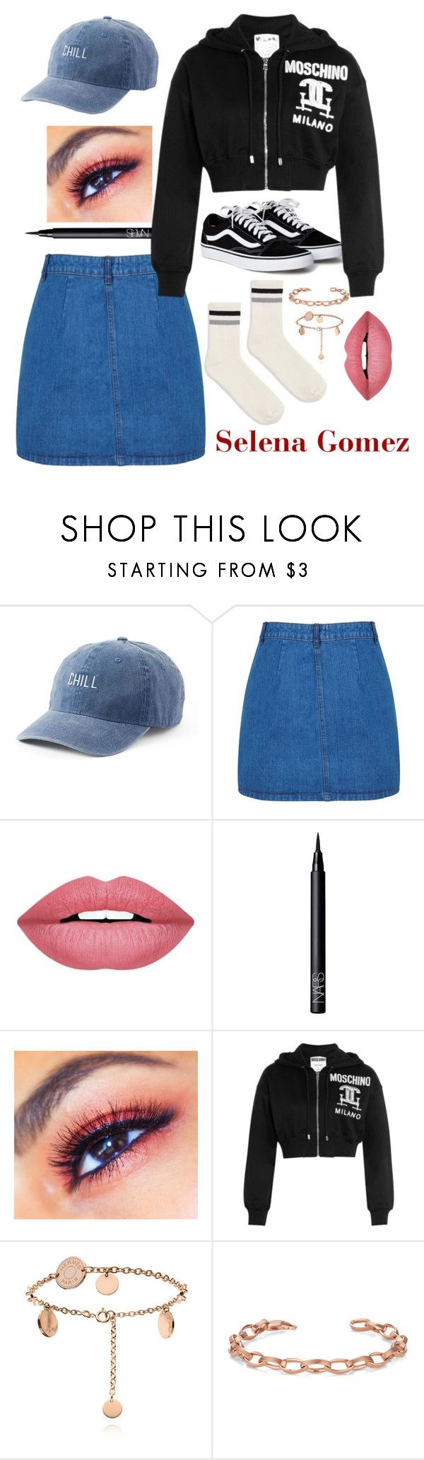 """SELENA INSPIRED 🖤"" by yabiog on Polyvore featuring SO, Miss Selfridge, Forever 21, NARS Cosmetics, Moschino and Topshop"
