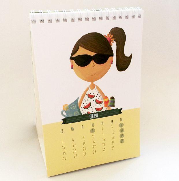 Ilustraciones realizadas para el Calendario 2015 de Piti&Po! Técnica: Digital.  http://www.pitiypo.cl/