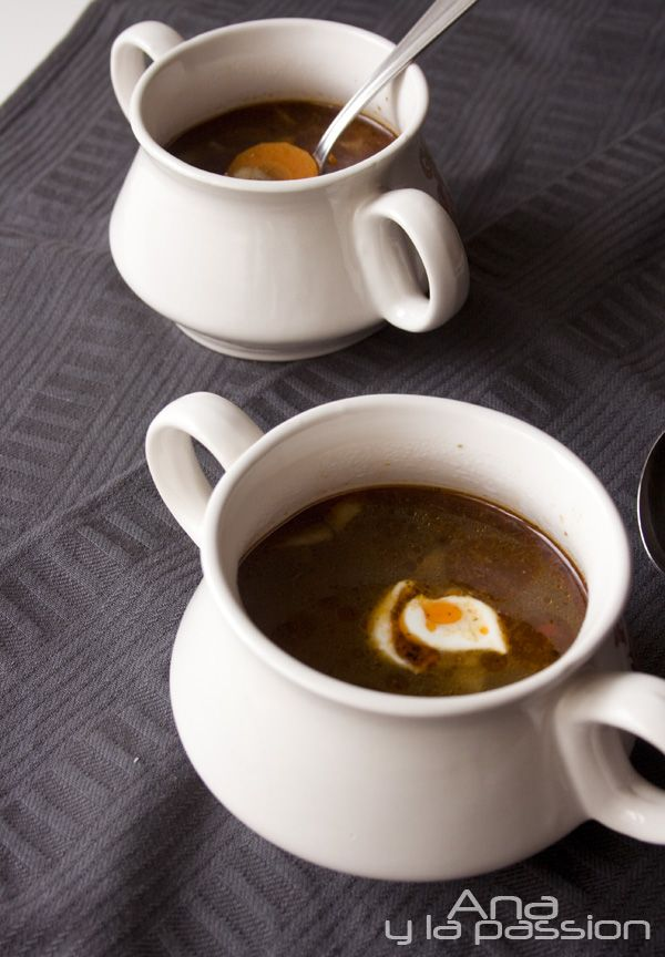 We Hungarians are quite a soup driven country, here is another example from our family recipes - mushroom soup by Ana y la passion