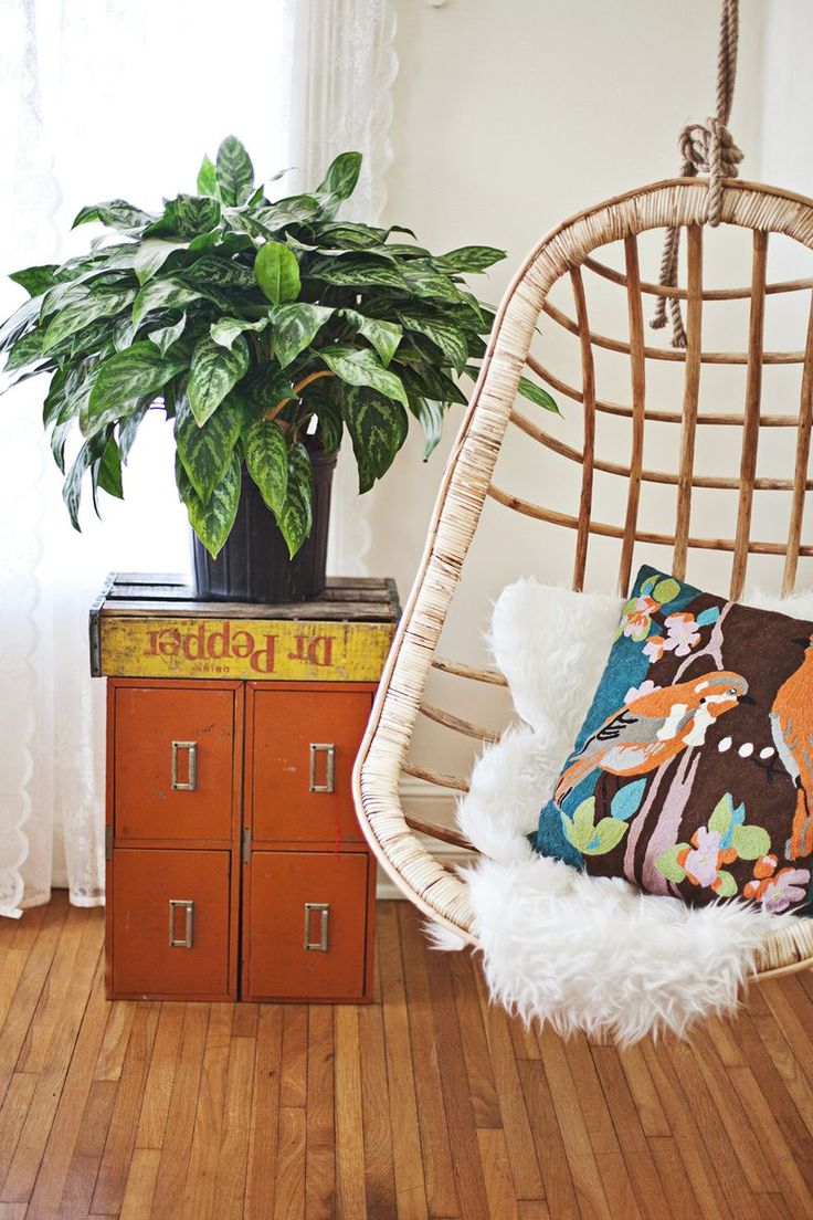 Indoor hanging pod chair - Supplement Your Seating With Unique Pieces Like This Indoor Hammock