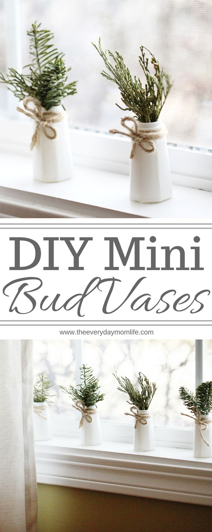 DIY Mini Bud Vases Perfect Year-Round Decor #crafting #crafturday #diy #diyhomedecor #decor #vintagehomedecor