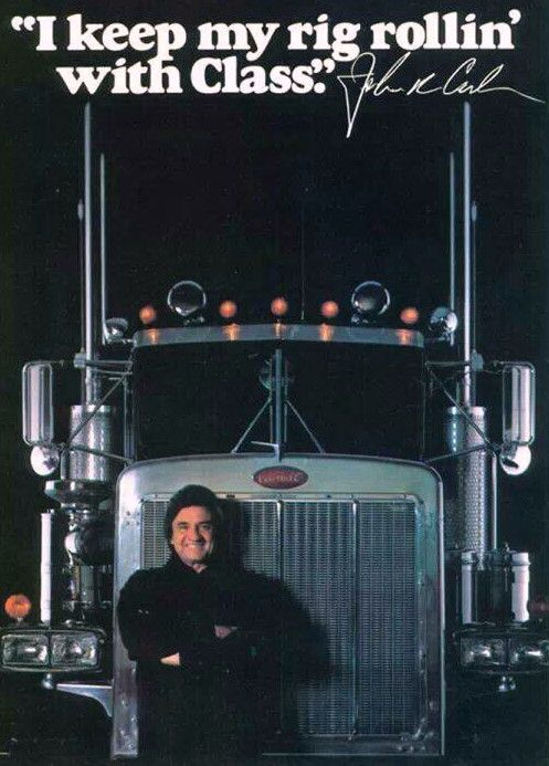 Johnny Cash, the Man in Black rolls with Peterbilt Class