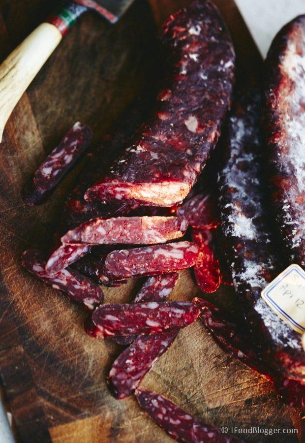 Casera sucuk - salchicha de carne de vaca curado hechos desde cero - absolutamente delicioso.