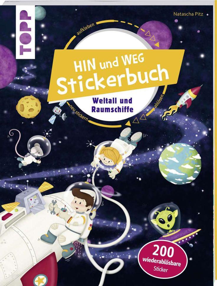 Das Hin-und-weg-Stickerbuch. Weltall und Raumschiffe  https://www.topp-kreativ.de/das-hin-und-weg-stickerbuch.-weltall-und-raumschiffe-7845?c=1734#frechverlag #topp #diy #sticker
