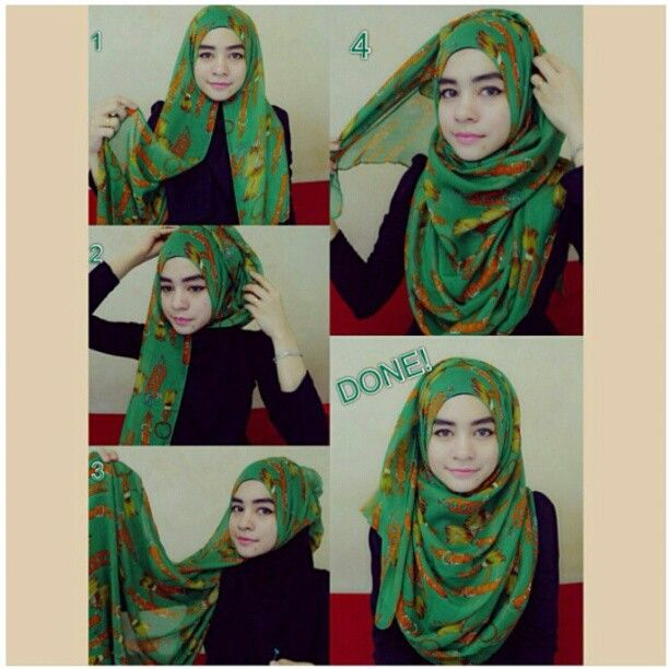 Hijab tutorial. Simple and nice pashmina style
