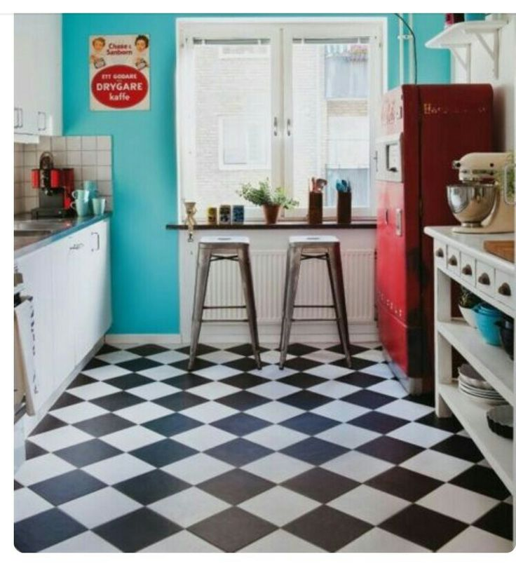 Checkered Kitchen Floor: Mid Century Modern/Checkerboard Floors Images On Pinterest