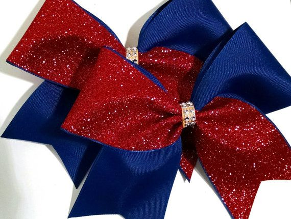 Glitter cheer bow YOU PICK COLORS custom softball by CraftyOhBows
