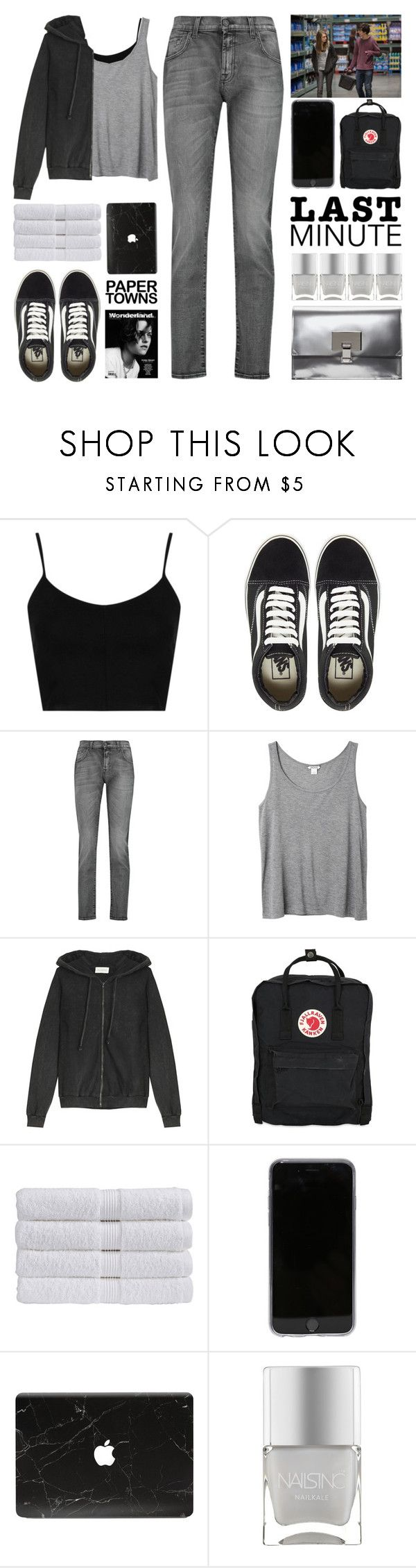 """Last Minute Haloween Costume : Margo Paper Towns"" by igedesubawa ❤ liked on Polyvore featuring Topshop, Vans, 7 For All Mankind, Monki, American Vintage, Fjällräven, Christy, Nails Inc. and Proenza Schouler"