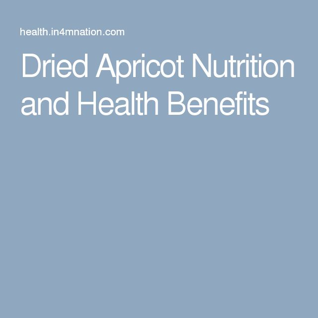 Dried Apricot Nutrition and Health Benefits