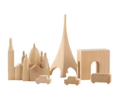 Wooden City #Blocks- just pick your favorite city to build!