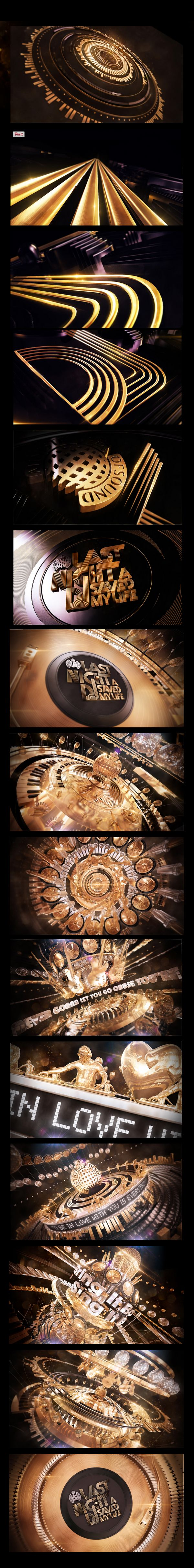 Client: Ministry Of Sound Agency: Bolder Creative TVC Pitch for LNADJSML by Ministry Of Sound. DJ modelling and rigging by Luca Viola. We created a vast self generating and transforming music machine. Starting on macro shots of traveling golden lines that would build up the logo we would then zoom out to wide angle shots of this complex disco inspired music machine. Unfortunately they went with something else.