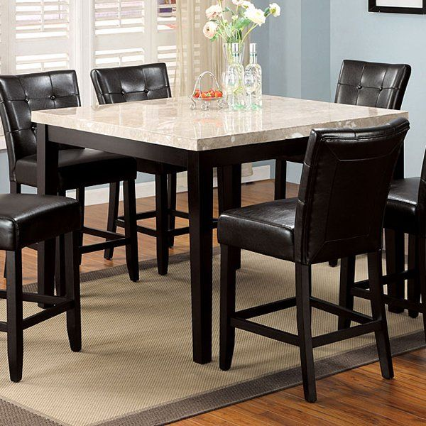 furniture of america cm3866pt48 marion square counter height dining table atg stores