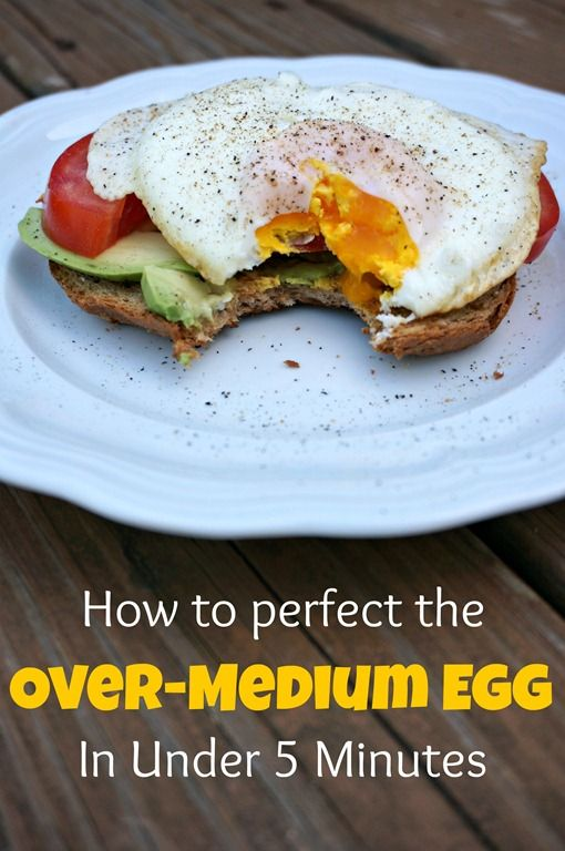 the perfect over medium egg- how to in less than 5 minutes