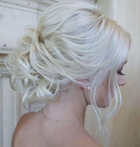 Featured Hairstyle: Heidi Marie (Garrett) Villa (Hair and Makeup Girl); Wedding hairstyle idea.