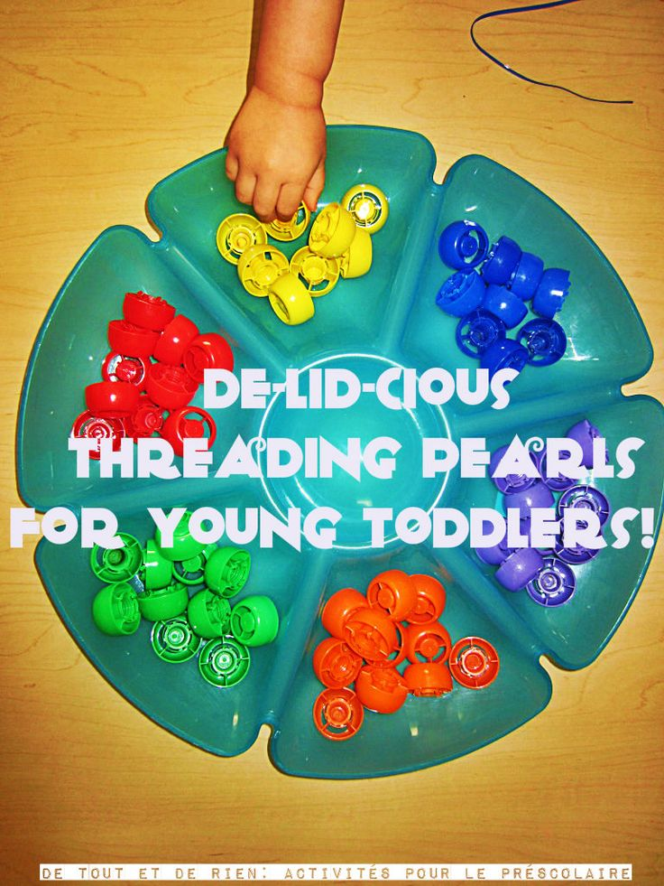 Everything and nothing: Threading caps for little hands (and as the author says - under supervision of course!)