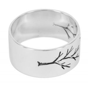 Pierced tree sterling silver ring - http://www.lordcoconut.com/shop/pierced-tree-parallel-ring/