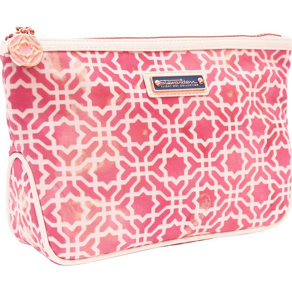 Flight 001 Stewardess Collection Alhambra Toiletry Bag - Pink -... ($17) ❤ liked on Polyvore featuring beauty products, beauty accessories, bags & cases, pink, wash bag, travel kit, travel bag, make up bag and travel toiletry case