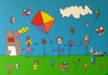 Iris Kids Art kindertekeningen schilderijen