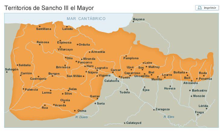 Territorios de Sancho III el Mayor