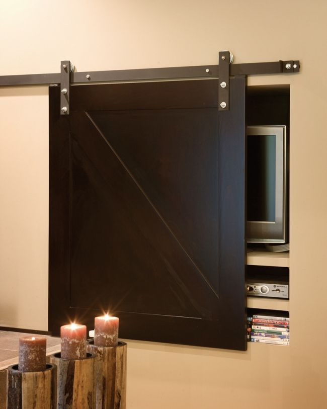 31 best images about entertainment storage ideas on for Hideaway sliding glass doors