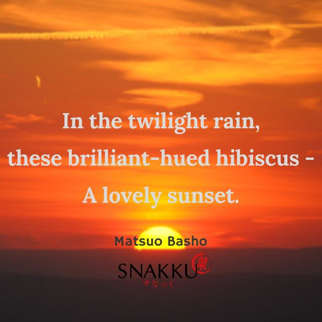 Beautiful Japanese Haiku Poem by Matsuo Basho on nature and it's beauty.