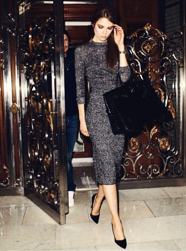 #tweed #dress caroline brasch nielsen by terry richardson for vogue paris december 2013