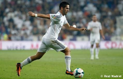 "Isco: ""It's the first goal I've scored from a header in La Liga and I'm very happy to win three points"""