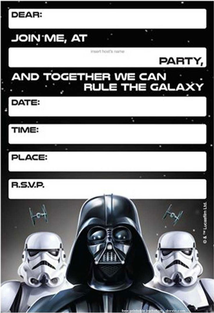 Download Free Printable Star Wars Birthday Invitations - Template Updated!