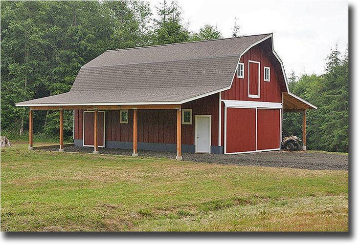 17 best images about shop buildings on pinterest pole for Gambrel pole barn plans