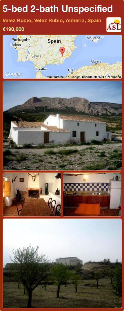 5-bed 2-bath Unspecified in Velez Rubio, Velez Rubio, Almeria, Spain ►€190,000 #PropertyForSaleInSpain