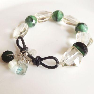 Ice and mint bracelet